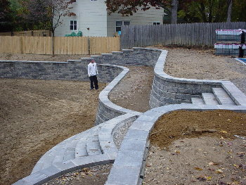 retaining wall contractor peter anthony landscaping retaining wall