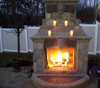 Outdoor Fireplaces & Fire Pits Installed | Peter Anthony Landscaping on